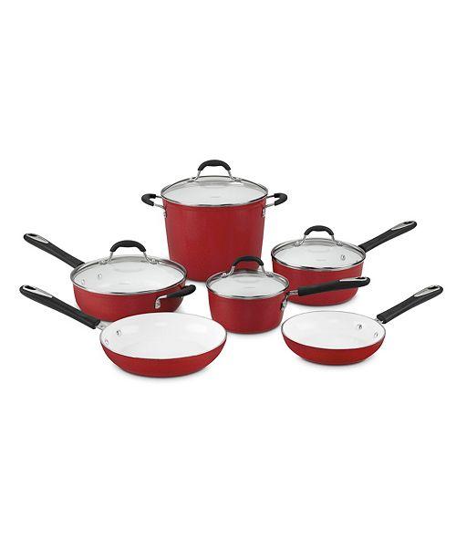 Cuisinart Cuisinart Elements Non Stick 10 Piece Cookware Set Reviews Cookware Kitchen Macy S