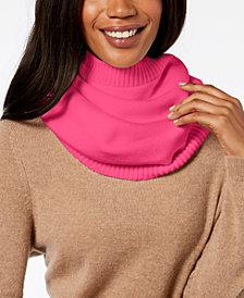 DKNY Ribbed-Knit Snood Neckwarmer, Created for Macy's