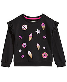 Epic Threads Little Girls Ice Cream Ruffled Sweatshirt, Created for Macy's