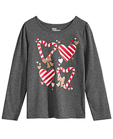 Epic Threads Little Girls Candy Cane Shirt, Created for Macy's