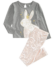 Epic Threads Little Girls Bunny T-Shirt & Velvet Leggings, Created for Macy's