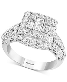 Diamond Baguette Cluster Engagement Ring (1-3/4 ct. t.w.) in 14k White Gold