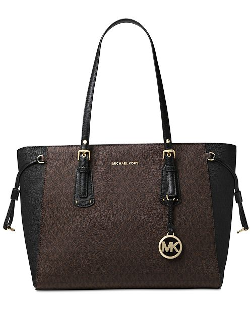 6d5c3da7c674 Michael Kors Signature Voyager Multi-Function Top Zip Tote   Reviews ...