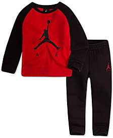 Jordan Little Boys 2-Pc. Air-Print Top & Pants Set