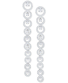 Swarovski Silver-Tone Crystal Linear Drop Earrings