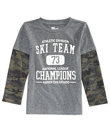 Epic Threads Little Boys Ski Champ Shirt, Created for Macy's