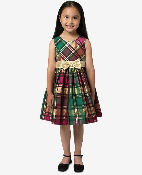 3bd363d4081a Bonnie Jean Little Girls Metallic Plaid Dress & Reviews - Dresses ...