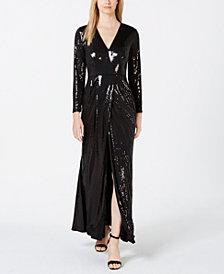 Calvin Klein Allover Sequin Gown