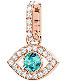 Swarovski Remix Collection Rose Gold-Tone Crystal Evil Eye Charm