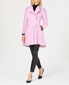 GUESS Asymmetrical Skirted Walker Coat
