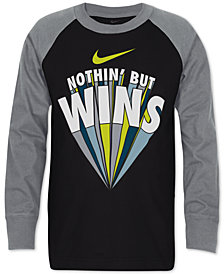 Nike Little Boys Wins-Print Cotton T-Shirt