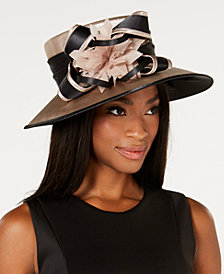 August Hats Dashing Satin Wide-Brim Hat