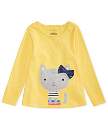 First Impressions Kitten Graphic Cotton T-Shirt, Created for Macy's