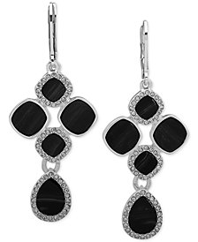 Nine West Silver-Tone Pavé & Stone Chandelier Earrings
