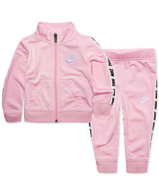 Nike Little Girls 2-Pc. Logo Track Suit Set