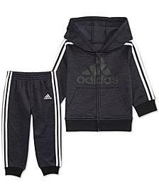 adidas Little Boys 2-Pc. Front-Zip Jacket & Jogger Pants Set