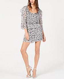 Rachel Zoe Flounce-Trim Leopard-Print Silk Dress