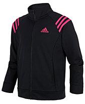 0af1be13243a adidas Big Girls Front-Zip Jacket