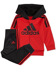 adidas Toddler Boys Athletic 2-Pc. Front-Zip Jacket & Jogger Pants Set