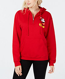 Love Tribe Juniors' Mickey Mouse Zip Hoodie