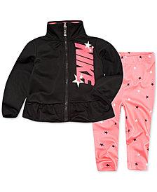 Nike Toddler Girls 2-Pc. Zip-Up Track Jacket & Printed Leggings Set