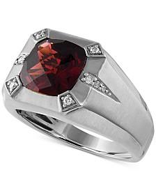 Rhodolite Garnet (5-3/4 ct. t.w.) & Diamond (1/10 ct. t.w.) Ring in Sterling Silver