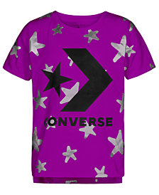 Converse Big Girls Star-Print Logo Cotton T-Shirt
