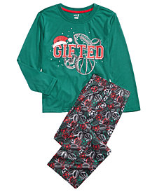 Max & Olivia Little & Big Boys 2-Pc. GIFTED Pajamas Set