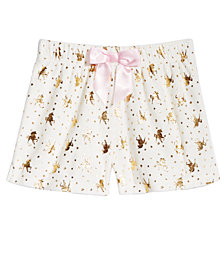 Max & Olivia Big Girls Printed Sleep Shorts, Created for Macy's