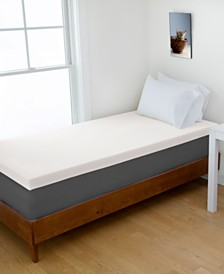 "Authentic Comfort Twin 2"" DORM Memory Foam Mattress Topper"