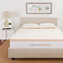 "Sleep Studio CopperFresh Queen 2"" Gel Memory Foam Mattress Topper"