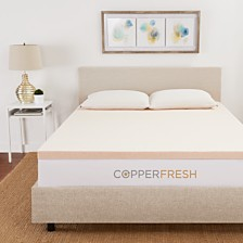 "CopperFresh Full 2"" Gel Memory Foam Mattress Topper"