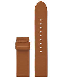 Tory Burch Women's ToryTrack Gigi Luggage Leather Smart Watch Strap