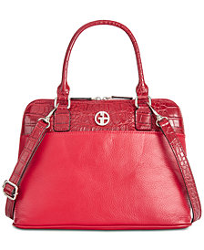 Giani Bernini Pebble Crocodile Dome Satchel, Created for Macy's