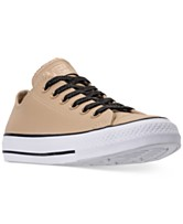 8cb101ae0f6 Converse Women s Chuck Taylor All Star Leather Ox Casual Sneakers from  Finish Line