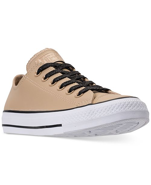 c3c64eabfb23 ... Converse Women s Chuck Taylor All Star Leather Ox Casual Sneakers from Finish  Line ...