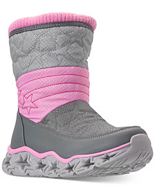 Skechers Little Girls' S Lights: Galaxy Lights - Star Bright Light-Up Boots from Finish Line