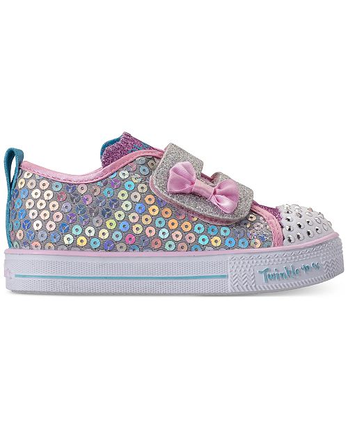85d2889c37544 ... Skechers Toddler Girls' Twinkle Toes: Shuffle Lite - Mini Mermaid Light-Up  Casual ...