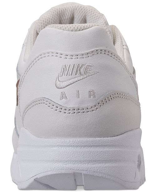 2e7162d2c575de Nike Girls  Air Max 1 Lux Casual Sneakers from Finish Line   Reviews ...