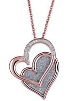 4ed8f64953 Diamond Glitter Double Heart 18