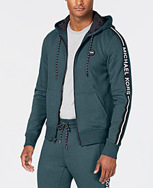 Michael Kors Men's Logo Fleece Full-Zip Hoodie
