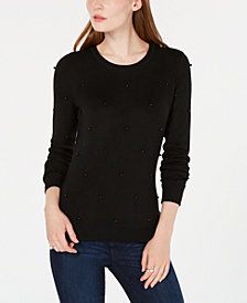 Maison Jules Embellished Sweater, Created for Macy's