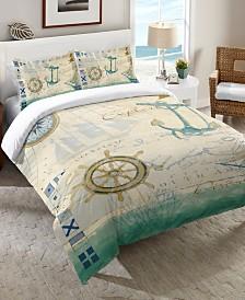 Laural Home Mariner Sentiment  King Comforter