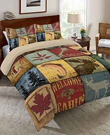 Laural Home Lodge Patch  King Comforter
