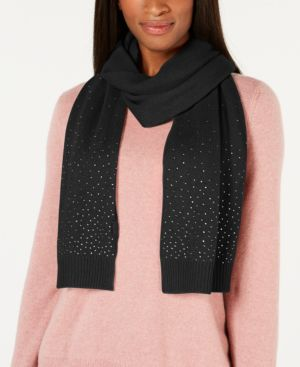 Image of Charter Club Rhinestone Cashmere Scarf, Created for Macy's