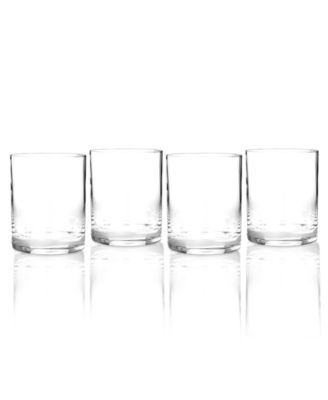Drinkware, Set of 4 Vintage Double Old Fashioned Glasses