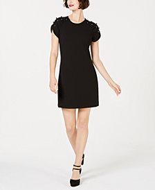 Betsey Johnson Imitation-Pearl Sleeve Dress