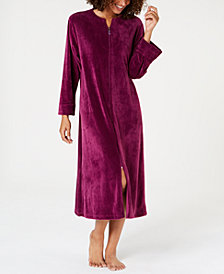 Miss Elaine Velvet Fleece Long Zip Robe