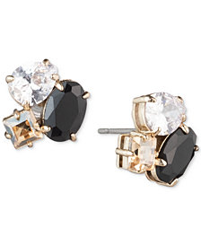 Carolee Gold-Tone Crystal & Stone Cluster Stud Earrings