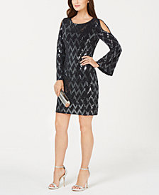 Jessica Howard Petite Cutout Sequin Dress